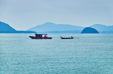 Thai boats in Andaman sea