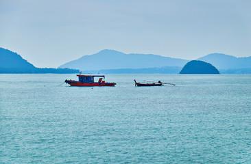 Thai boats in Andaman sea