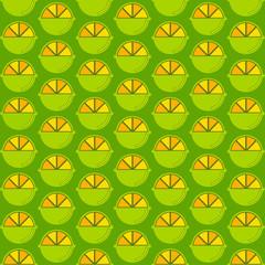 creative green lemon pattern design vector