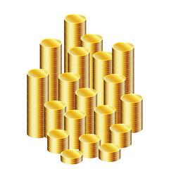 Mucchio di monete impilate