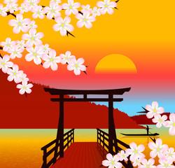 Japanese traditional landscape