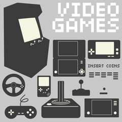 Video Games Icon Set