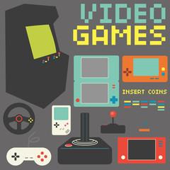 Video Games Icon Set