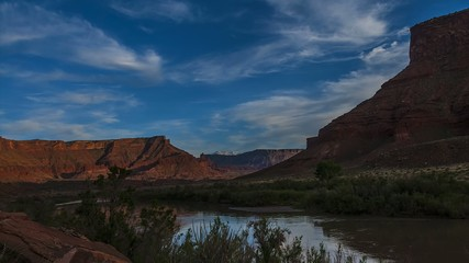 Colorado River Fisher Tower Route 128 Utah Landscape Time-lapse