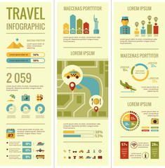 Travel Infographic Elements.