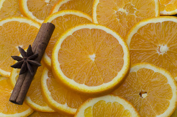 healthy oranges and cinnamon