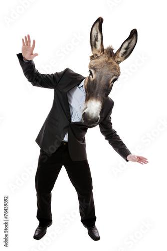 Fotobehang Ezel Businessman with donkey head