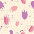Seamless tulip floral pattern