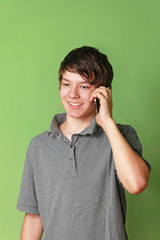 Teen at phone