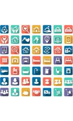 Real Estate icon set, Family symbols
