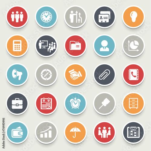 Zdjęcia na płótnie, fototapety, obrazy : Business and management icons.