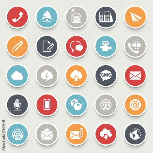 Communication icons. poster