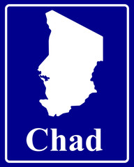 silhouette map of Chad