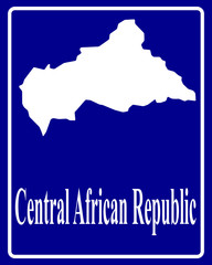 silhouette map of Central African Republic