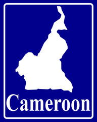 silhouette map of Cameroon