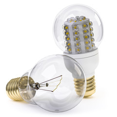 Leuchtmittel alt gegen neu