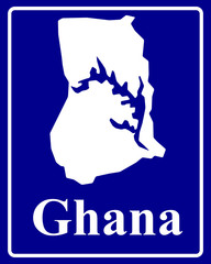 silhouette map of Ghana