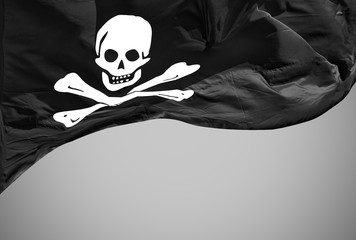 jolly roger flag isolated