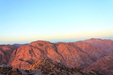 Sinai mountains in the morning horizontal