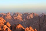 View of the Sinai mountains at dawn