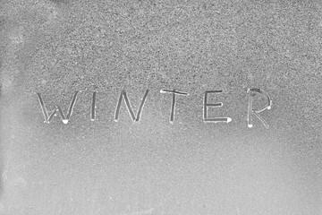 Winter  Wort auf Eis