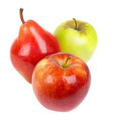 Apple and pear closeup