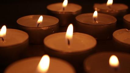 burning candle shot