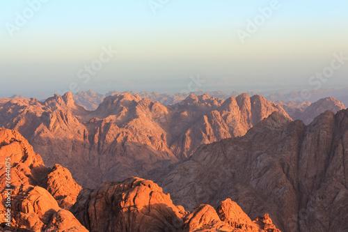Zdjęcia na płótnie, fototapety, obrazy : View of the Sinai mountains at dawn