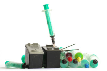 cartridge into the printer 2