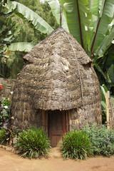 Traditionelles Haus der Dorze, Äthiopien, Afrika