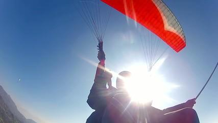 test tandem paragliding