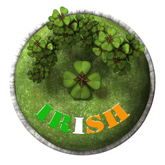 Blossom of clover with ireland flag color.