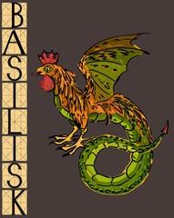 Basilisk with title