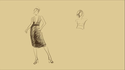 drawing fashion sketches by hand