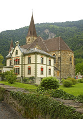 Catholic church in Interlaken. Switzerland