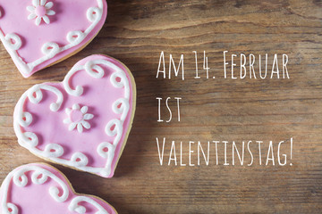 Am 14. Februar ist Valentinstag!