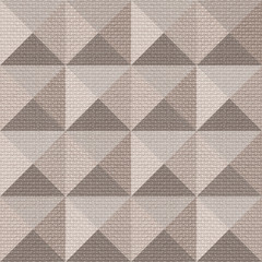 Abstract paneling pattern - seamless background - pyramidal