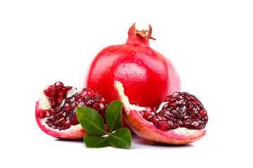 Slices of pomegranate