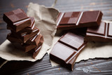 Chocolate with rustic paper