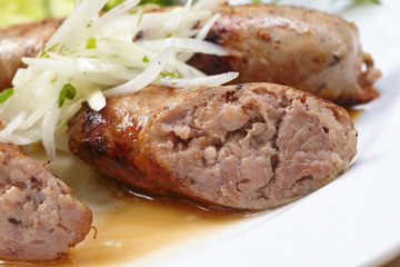 sausage with vegetables