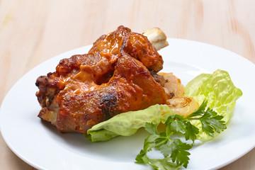 Roasted pork shank