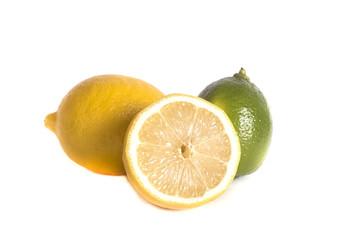 sour juicy freshly picked lemons