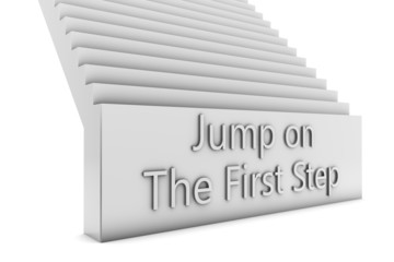 Jump on the first step