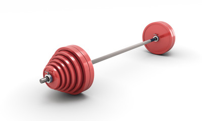 Barbell isolated on white