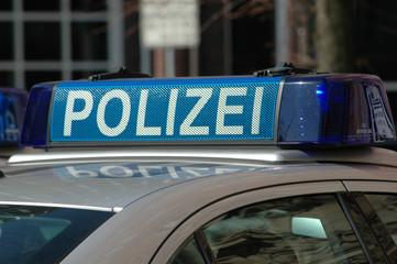 Polizei, Peterwagen, Blaulicht, Kriminalität, Sicherheit