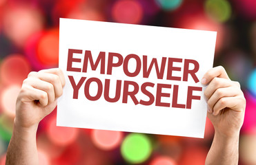 Empower Yourself card with colorful background