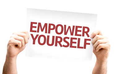 Empower Yourself card isolated on white background