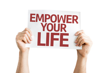 Empower your Life card isolated on white background