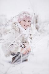 Mädchen im Schnee