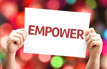 Empower card with colorful background